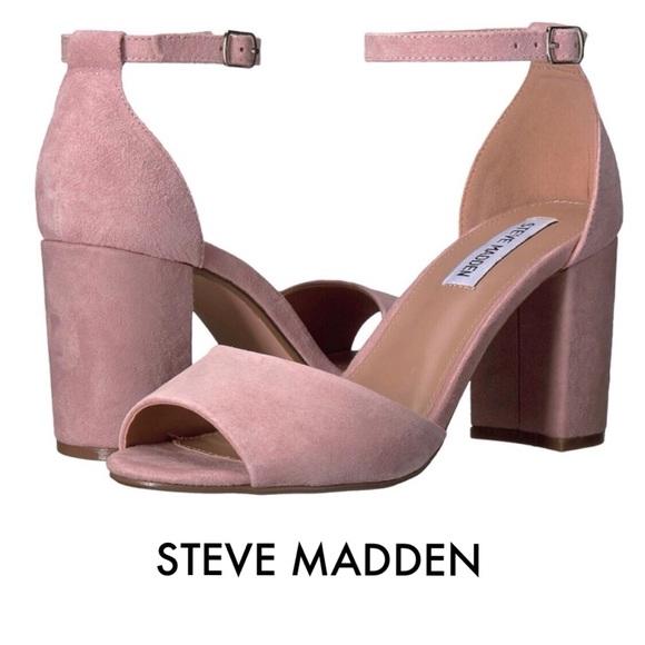 ffa1a2816cf NEW STEVE MADDEN Chunky Heels Mirna Pink Suede 6.5.  M 5b6b668042aa76f2aff8ea4f
